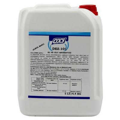 OXY Dez-101 Alkol Bazlı El Ve Cilt Antiseptiği 5 Lt Kova ve Temizlik Setleri
