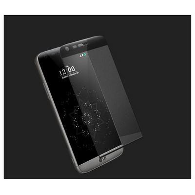 Microsonic Lg G5 Kavisli Temperli Cam Ekran Koruyucu Kırılmaz Film Siyah Ekran Koruyucu Film