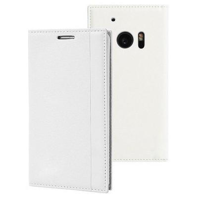 Microsonic Htc 10 Kılıf Gizli Mıknatıslı Delux Beyaz Cep Telefonu Kılıfı