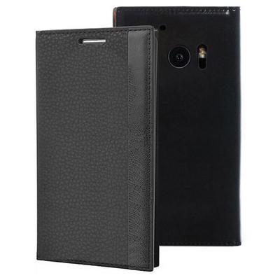 Microsonic Htc 10 Kılıf Gizli Mıknatıslı Delux Siyah Cep Telefonu Kılıfı