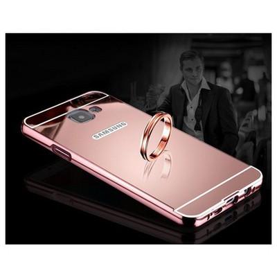 Microsonic Samsung Galaxy C7 Kılıf Luxury Mirror Rose Gold Cep Telefonu Kılıfı