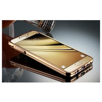 Microsonic Samsung Galaxy C5 Kılıf Luxury Mirror Gold Cep Telefonu Kılıfı