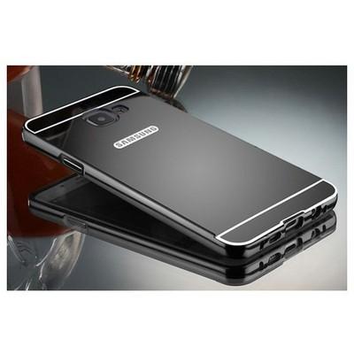 Microsonic Samsung Galaxy C5 Kılıf Luxury Mirror Siyah Cep Telefonu Kılıfı