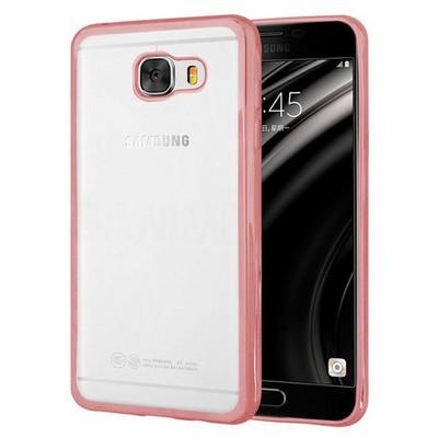 Microsonic Samsung Galaxy C5 Kılıf Flexi Delux Rose Gold Cep Telefonu Kılıfı