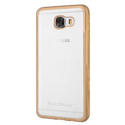 Microsonic Samsung Galaxy C5 Kılıf Flexi Delux Gold Cep Telefonu Kılıfı