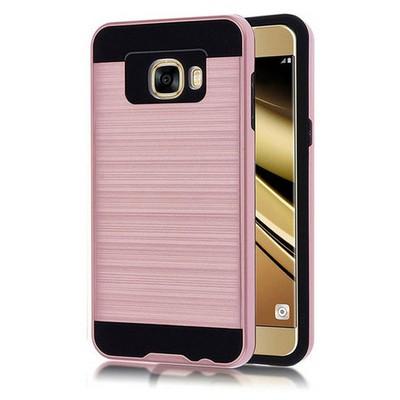 Microsonic Samsung Galaxy C7 Kılıf Slim Heavy Duty Pembe Cep Telefonu Kılıfı