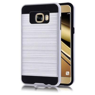 Microsonic Samsung Galaxy C7 Kılıf Slim Heavy Duty Gümüş Cep Telefonu Kılıfı