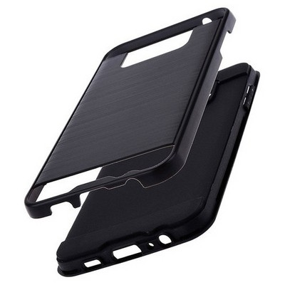 Microsonic Samsung Galaxy C7 Kılıf Slim Heavy Duty Siyah Cep Telefonu Kılıfı