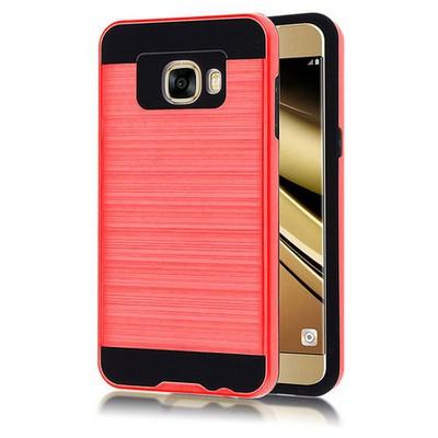 Microsonic Samsung Galaxy C5 Kılıf Slim Heavy Duty Kırmızı Cep Telefonu Kılıfı
