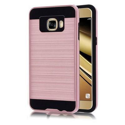 Microsonic Samsung Galaxy C5 Kılıf Slim Heavy Duty Pembe Cep Telefonu Kılıfı