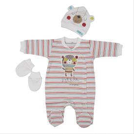 bebepan-1583-mr-cream-3lu-bebek-tulumu-cizgili-3-6-ay-62-68-cm