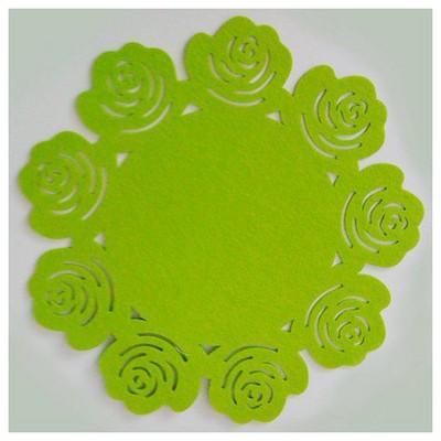 Kütahya Porselen Keçe Yeşil Amerikan Servis Küçük Mutfak Gereçleri