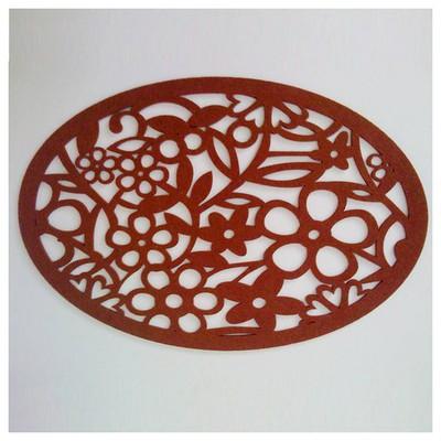 Kütahya Porselen Keçe Oval Kahverengi Amerikan Servis Servis Gereçleri