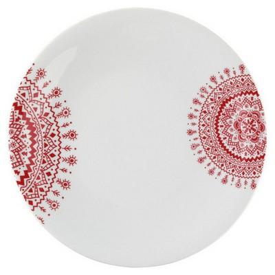 Mitterteich 866817 Desen 27 Cm Servis Tabağı Kırmızı Küçük Mutfak Gereçleri
