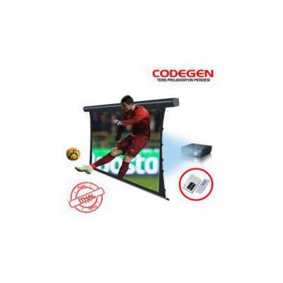 Codegen Brx-20 200x200 Motorlu Uzaktan Kumandalı Ters Projeksiyon Perdesi Projeksiyon Aksesuarı