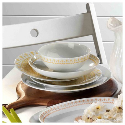 Mitterteich 86685 Desen 24 Parça Yemek Seti Sarı Yemek Takımı