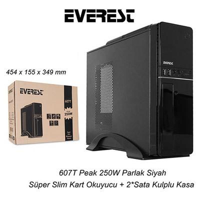 Everest 607t 250w Süper Slim Siyah Kasa