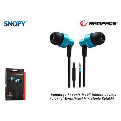 Rampage Phoenıx-m Rampage Phoenix Mobil Telefon Uyumlu Kulak Içi Mavi/siyah Mik. Kulaklık Kulak İçi Kulaklık