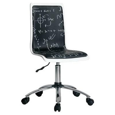 Handy-Mate Çalışma Sandalyesi Beyaz / Siyah Model Pop Art Chr-020-bs-1 Mobilya
