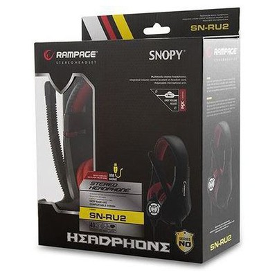 Snopy SN-RU2 Rampage SN-RU2 Oyuncu Usb Siyah/kırmızı Mikrofonlu Kulaklık Kafa Bantlı Kulaklık