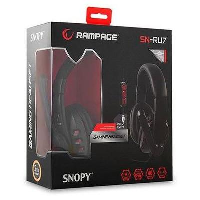 Rampage Sn-ru7 Rampage Sn-ru7 Usb Ledli Oyuncu Siyah Mikrofonlu Kulaklık Kafa Bantlı Kulaklık