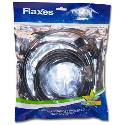 Flaxes Fhh-05 Flaxes Fhh-05 Hdmı 5mt 1.4vr 3d %100 Bakır - Askılı Poşet HDMI Kablolar