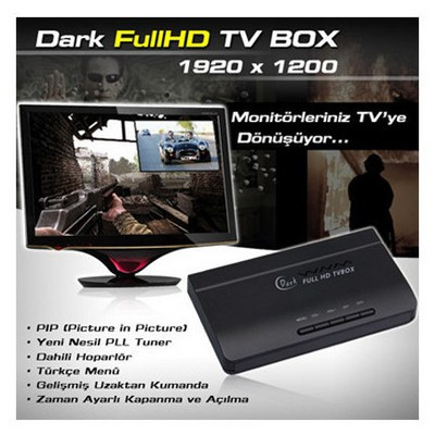 Dark Full Hd Tv Box 1920x1200 Harici Tv Kutusu - Outlet