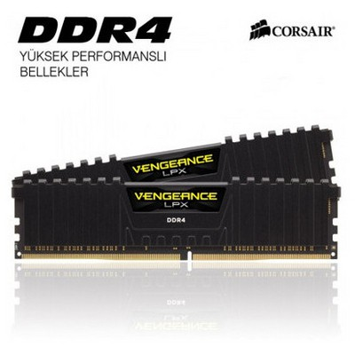 corsair-vengeance-cmk16gx4m2a2400c16-16gb-2x8gb-ddr4-2400mhz-bellek-siyah