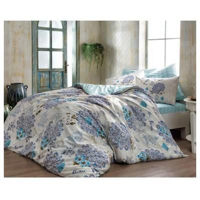 Taç Ranforce Tek Kişilik Nevresim Takımı - Bella Mavi Ev Tekstili