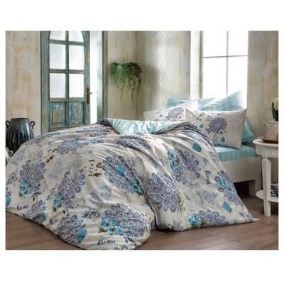 Taç Ranforce Çift Kişilik Nevresim Takımı - Bella Mavi Ev Tekstili
