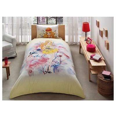 Taç Lisanslı Winx Stella Water Colour Nevresim Takımı Ev Tekstili