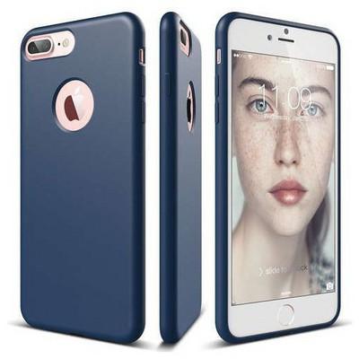 Elago 8809461766041 Apple Iphone 7 Plus Kılıf + Ekran Koruyucu Mavi Cep Telefonu Kılıfı