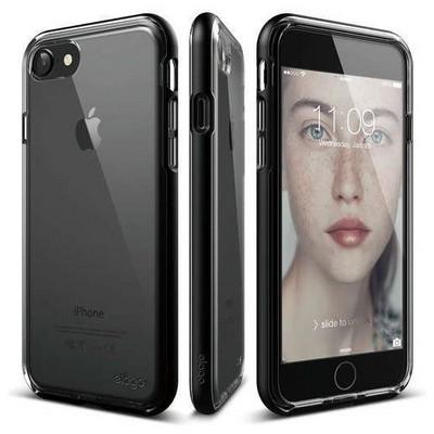 Elago 8809461766478 Apple Iphone 7 Kılıf + Ekran Koruyucu Mat Siyah Cep Telefonu Kılıfı