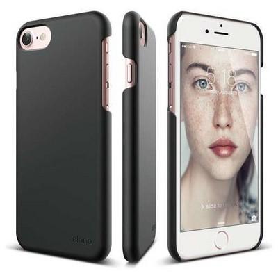 Elago 8809461766577 Apple Iphone 7 Kılıf + Ekran Koruyucu Mat Siyah Cep Telefonu Kılıfı