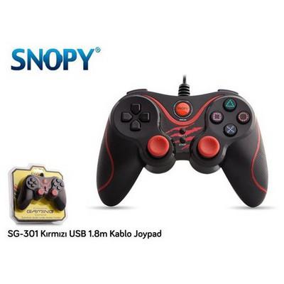 Snopy Sg-301k Sg-301 Kırmızı Usb 1.8m Kablo Joypad Gamepad / Joystick