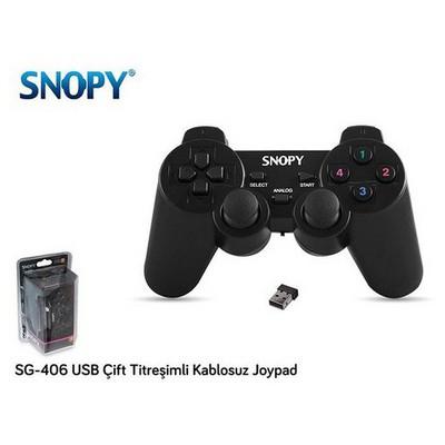 Snopy Sg-406 Sg-406 Usb Kablosuz Çift Titreşimli Joypad Gamepad / Joystick