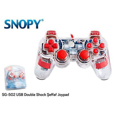 Snopy SG-502 Şeffaf USB Gamepad