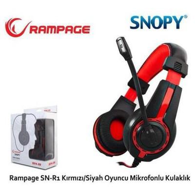 Snopy Sn-r1k Rampage Sn-r1 Oyuncu Kırmızı/siyah Mikrofonlu Kulaklık Kafa Bantlı Kulaklık