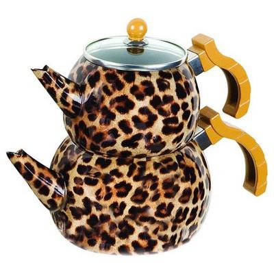 Evren 403 Desenli Ezme Çaydanlık Kahve Çay Seti
