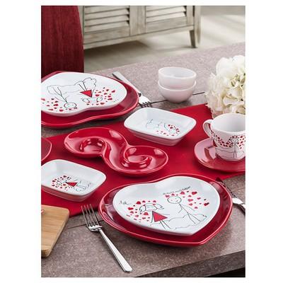 Keramika Set Kalp Kahvaltı 14 Parca Hepsı Burada Ask A Kahvaltı Takımı