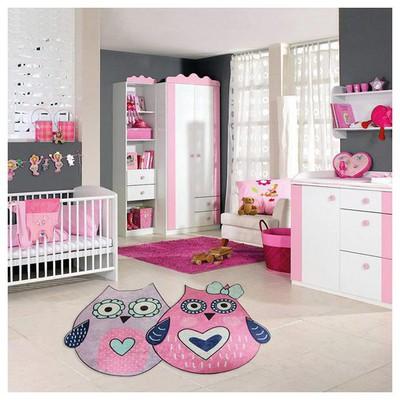 İhouse Kc14 Cocuk Odası Halısı Pembe Ev Tekstili