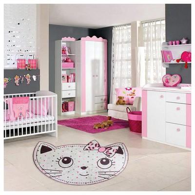 İhouse Kc18 Cocuk Odası Halısı Beyaz Ev Tekstili