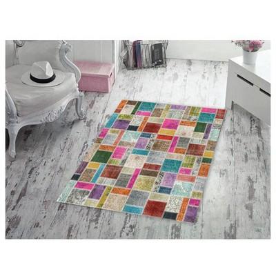 İhouse Patch001b Patcwork Kaydırmaz Halı Mozaik Ev Tekstili