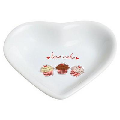 Keramika 6 Lı 14 Cm Kalp Fruıt Cake Cerezlık Tabak