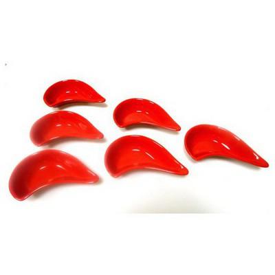 Keramika 6 Lı 17 Cm Kırmızı Bayrak Damla Cerezlık Çerezlik