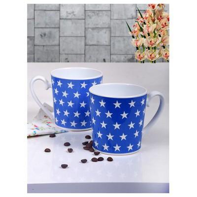 Keramika 2 Adet Aura Kupa 9 Cm Titanium Mavi Yıldız Çay Seti