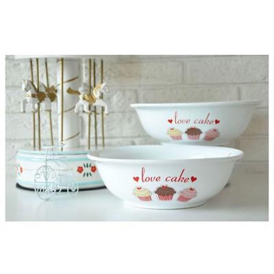 Keramika 2 Lı 25 Cm Fruıt Cake Dıyar Salata Kasesı Tabak