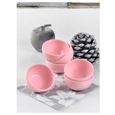Keramika 6 Lı 8 Cm Acık Pembe Bulut Sosluk Tabak