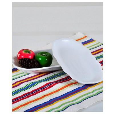 Keramika 2 Lı 19 Cm Beyaz Cok Amaclı Kayık Romeo Tabak