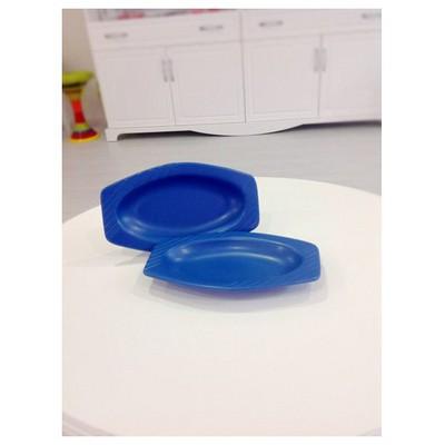 Keramika 2 Lı 23 Cm Mat Efe Mavı Cok Amaclı Kayık Melısa Tabak